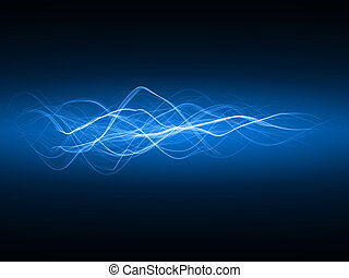 smooth energy waves blue colored, wide waves version