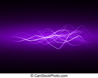 smooth energy waves (violet colored, wide waves version)