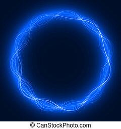 maic loop,energy ring - energy loop ring blue colored, short...