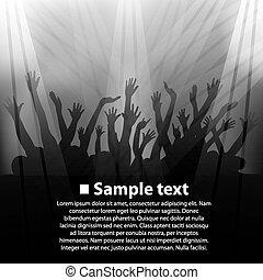 Concert, fan zone art banner. Vector illustration
