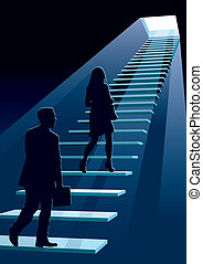 Businesspeople in a hurry, conceptual business, vector...