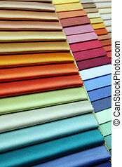 fabric - Color samples of a fabric in shop