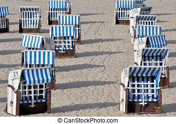 beach chairs on the Baltic Sea beach at Heiligendamm