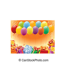 Happy birthday - Balloons decoration ready for birthday and...