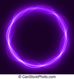 maic loop,energy ring - energy loop ring violet colored wide...