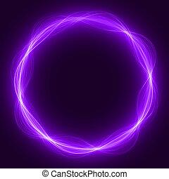 maic loop,energy ring - energy loop ring ( violet colored...