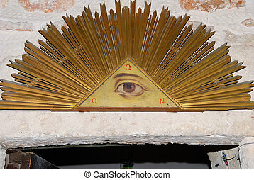 All-seeing eye - Christian religious symbol - all-seeing eye