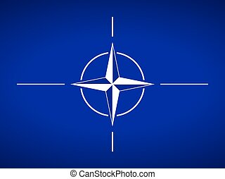NATO flag. - Flag of North Atlantic Treaty Organization.