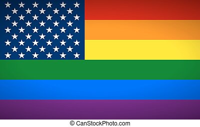 United States Gay flag. Vector illustration.