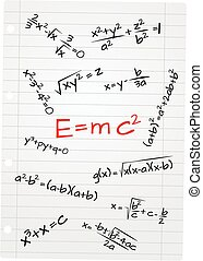 math emc - illustration of formula mathematics on the sheet