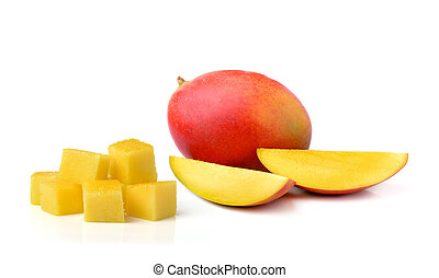 fresh mango isolated on white background - fresh mango...