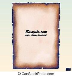 Paper vintage parchment