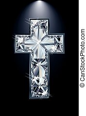 Christian Cross diamond religion