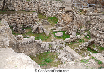 Pool of Bethesda - Ancient ruins of pools in the Muslim...