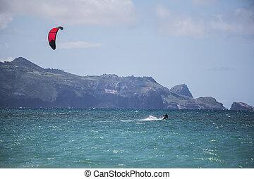 Maui Kite Surfer - Maui kite surfer from Kanaha Beach Park