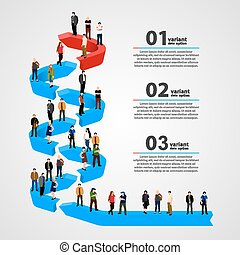 Business people standing in line Vector illustration