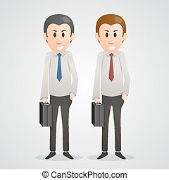 Office men art people business Vector illustration