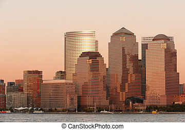 Lower Manhattan - World Financial Center buildings and...