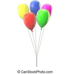 Multicolored balloons in conjunction - Lots of colorful...