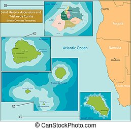 Saint Helena, Ascension and Tristan da Cunha map - Saint...