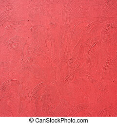 Red wall concrete background - vintage effect