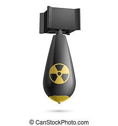 Bomb - Illustration of a atomic black bomb isolated on a...