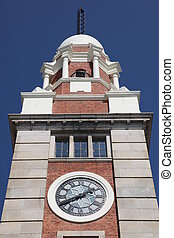 Kowloon clock tower - Tsim Sha Tsui - Hong Kong.A prominent...