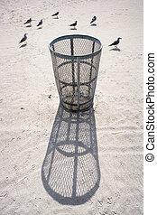 Trash Can & Gulls