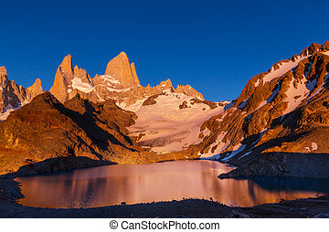 Fitz Roy - Mount Fitz Roy in Los Glaciares National Park,...