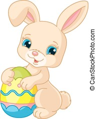 Easter bunny - Vector illustration of cute Easter Bunny...