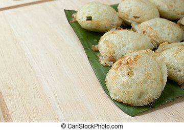 Coconut milk mix sugar and flour - Kind of Thai sweetmeat