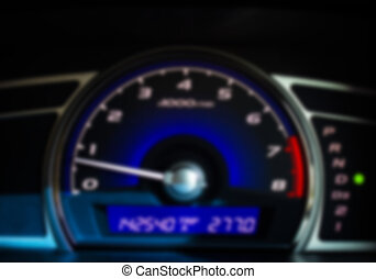 Mileage - Dashboard of a car with a high mileageBlur style