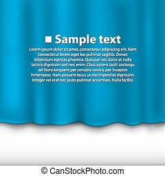 Curtain of blue color background. Vector illustration