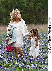 Easter TX Bluebonnets Stroll - Gandmother and...