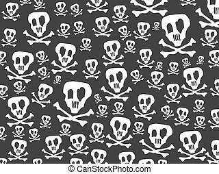 seamless skulls and bones background