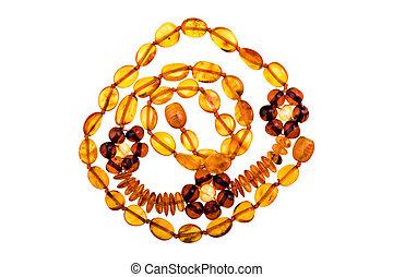 Baltic amber isolated