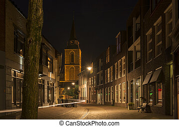 Centre of Winterswijk by night - Ratumsestraat in...