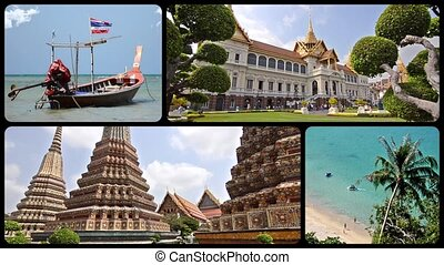 thailand collage - thailand montage, art, culture, nature...