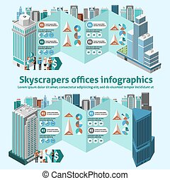 Skyscraper Offices Infographics - Skyscraper offices...