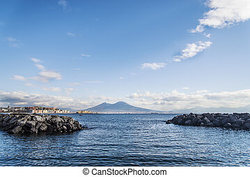 Naples - the view of the bay of Naples. Italy