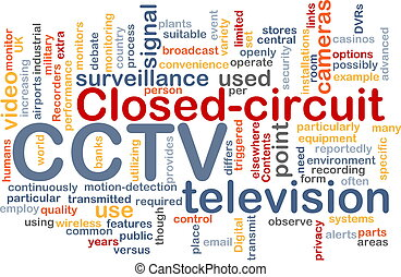 CCTV word cloud - Word cloud concept illustration of CCTV...