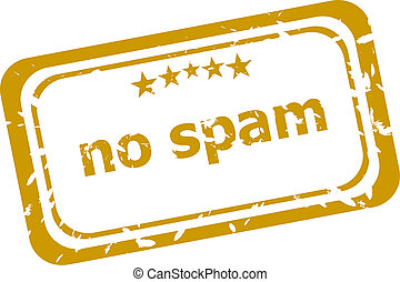 no spam stamp isolated on white background