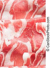Sliced lamb meat for shabu-shabu