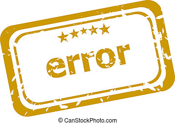 error stamp isolated on white background