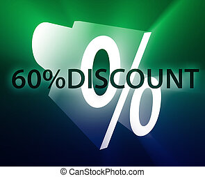 Percent Discount illustration - Sixty Percent discount,...