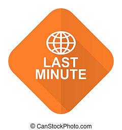 last minute orange flat icon