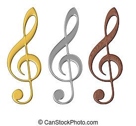 musical, nós, -, isolado