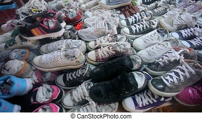 lots of sneaker shoes on sale. HD. 1920x1080 - lots of...
