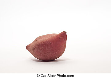 Yam in a white background