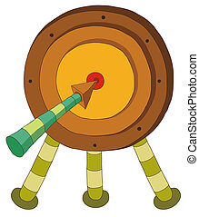 archery target - a beautiful drawing of an archery target